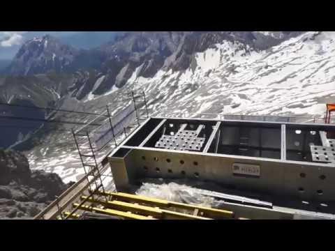 Die neue Seilbahn Zugspitze - Baustellen-Besichtigung am 07.07.2016