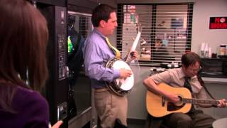 Dwight and Andy -  Country Roads Song Scene (The Office)