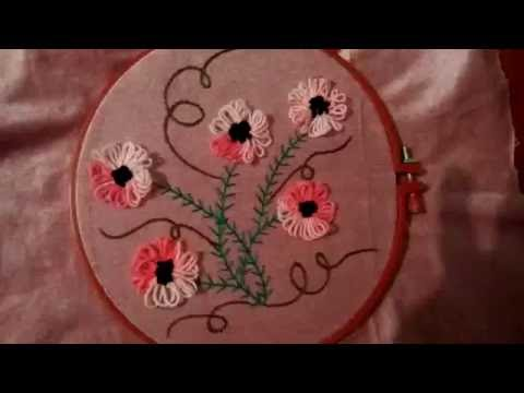 How to do Pipe/tube flower stitch