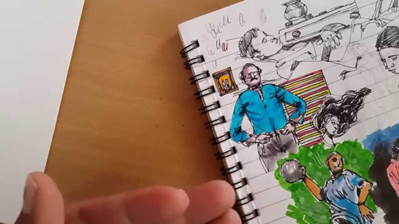 Coloring with Koi brush pen - YouTube