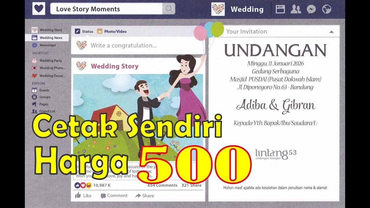 15 Undangan Pernikahan Simple Elegan Dan Murah Youtube