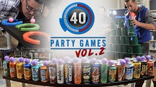 The 40 Best Party Games! | Greatest Games, Greatest Moments Vol. 2 (Minute to Win It Games & More!)