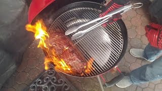 Easy Spin Grate   Reverse Sear Rib-Eye   Weber Kettle   Special Guest