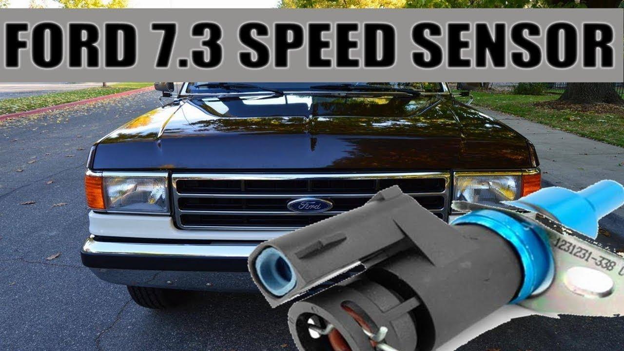 1988 1996 ford diesel 7 3 replace transmission output sensor speed 1992 ford f 250 7 3 diesel e4od 2wd transmission wiring harness  [ 1280 x 720 Pixel ]