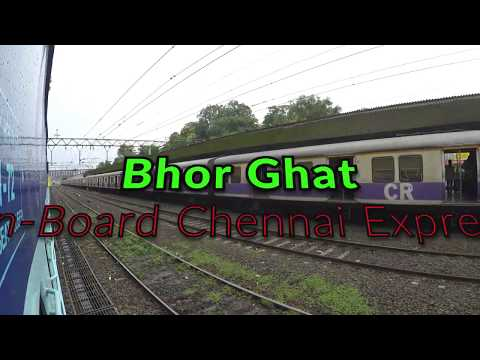 Bhor Ghat In Monsoon From On-Board Chennai Express!!!!