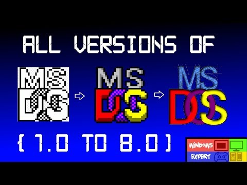 ALL VERSIONS OF MS-DOS (1.0-8.0)
