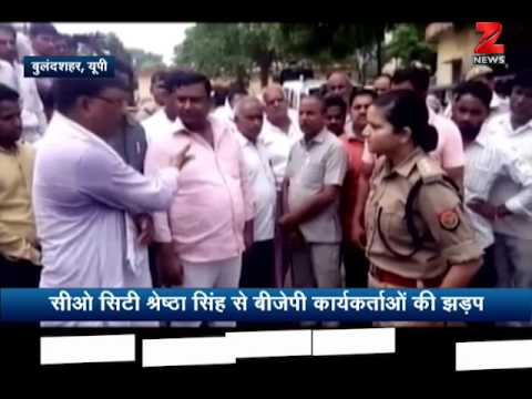 Clash between police and BJP ministers over challan money