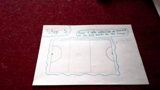 How to draw a netball court!