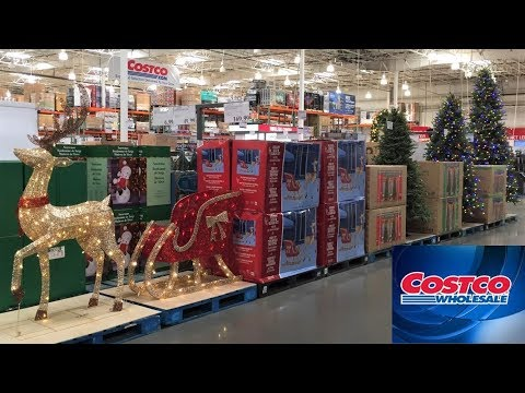 Costco Christmas Trees Decorations Home Decor Shop With Me