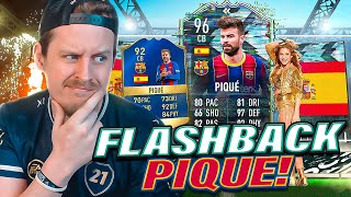 STRIKER PIQUE?! 96 TOTS FLASHBACK PIQUE REVIEW! FIFA 21 Ultimate Team