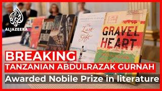 Tanzania's Abdulrazak Gurnah wins 2021 Nobel Prize in literature