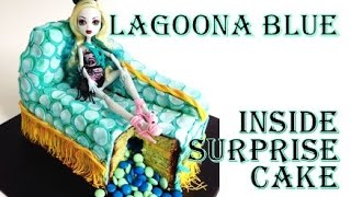 Halloween Monster High Lagoona Blue Chaise Lounge Cake | How To Make