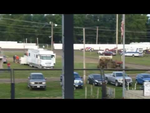 West Liberty Raceway tornado tues mod heat 1 8/6/13