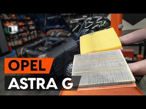 Как заменить воздушный фильтр на OPEL ASTRA G CC (F48, F08) [ВИДЕОУРОК AUTODOC]