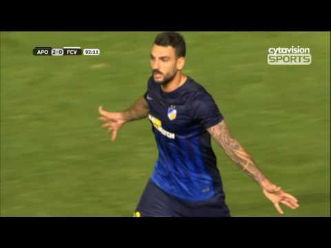 Βίντεο αγώνα: APOEL FC 4-0 Viitorul (4-1agg)