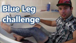 Dyeing my Leg Hair Blue challenge #hydro