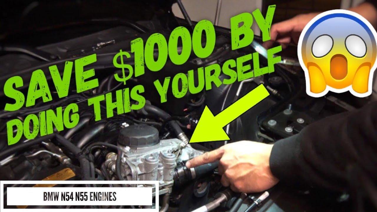 Oil Leak Repair >> DIY HOW TO BMW 335i N54 N55 OIL FILTER HOUSING LEAK FIX ...