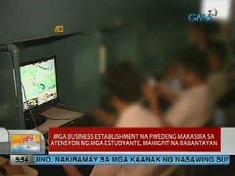 Mga business establishment na pwedeng makasira sa atensyon ng mga estudyante, mahigpit na babantayan