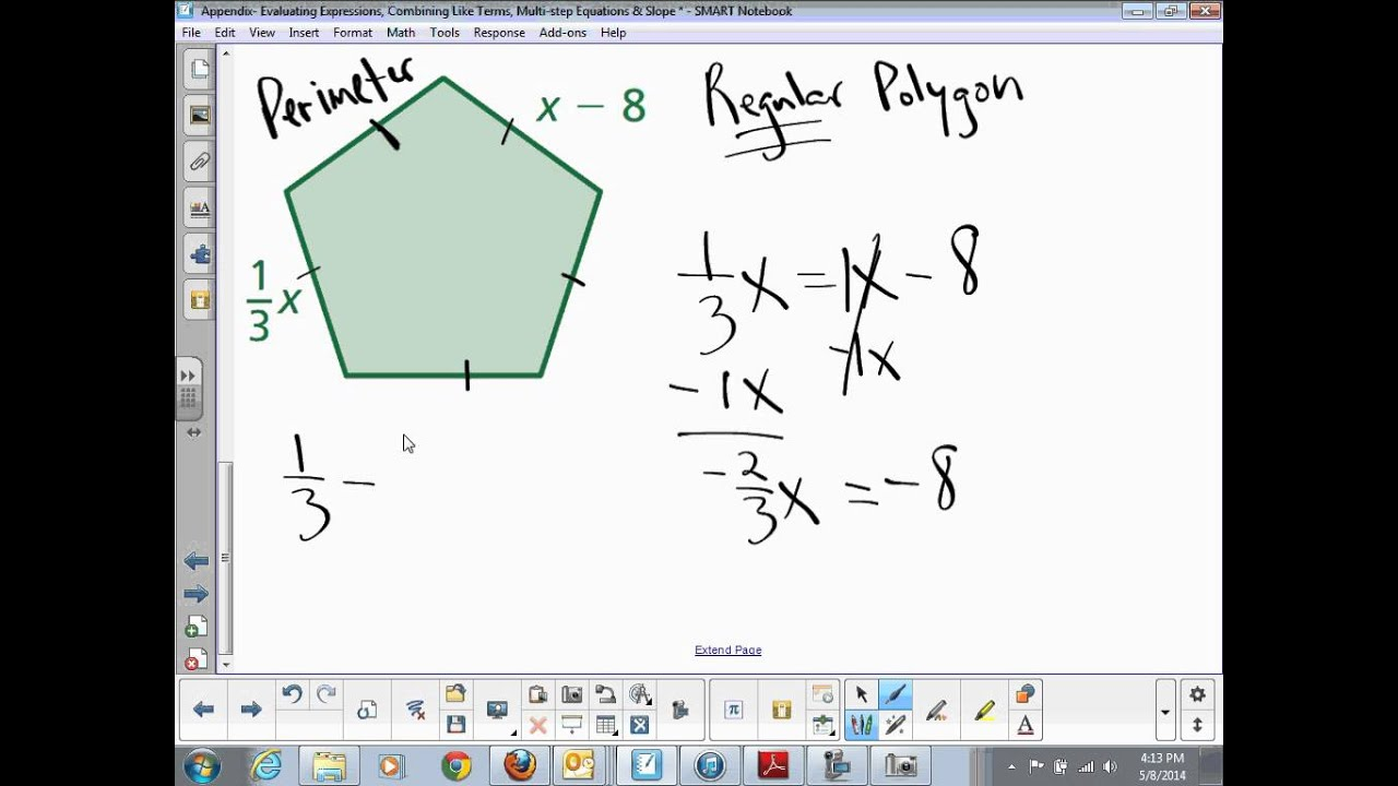 Equations With Variables On Both Sides Involving Perimeter