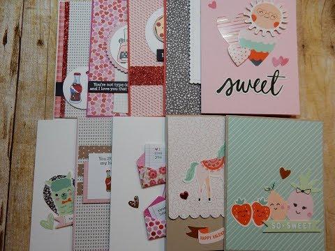 10 Cards 1 Kit    2018 Simon Says Stamp January Limited Edition Kit Card Kit   So Punny