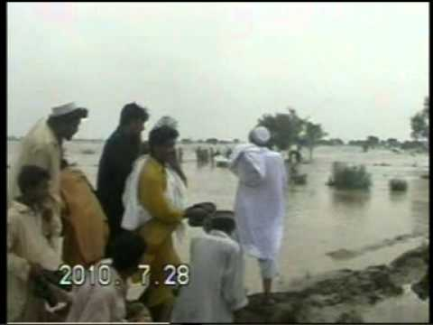 Ayaz mandokhel of zhob rescued a child in lakki marwat in floods 2010.