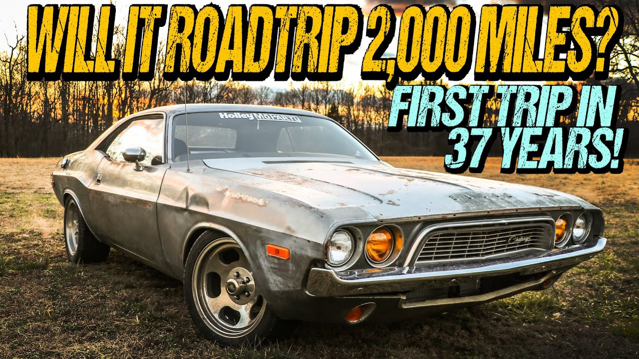 ABANDONED Dodge Challenger: Will It Survive 2,000 Miles After Sitting 37 Years?
