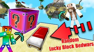 MINI GAME : RANDOM LUCKY BLOCK BEDWARS ** CUỘC CHIẾN BEDWARS XUI XẺO NHẤT TRONG MINECRAFT