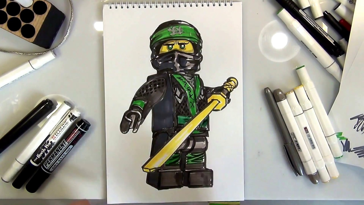 How To Draw Lloyd The Lego Ninjago Movie Youtube