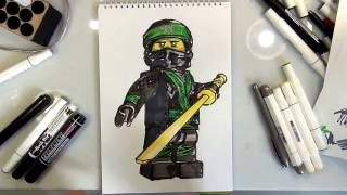 How to Draw LLOYD (The LEGO Ninjago Movie)