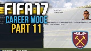 FIFA 17 Career Mode Gameplay Walkthrough Part 11 - I WANT TO PLAY (West Ham)
