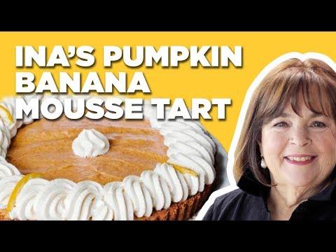 Barefoot Contessa Makes a Pumpkin Banana Mousse Tart for Thanksgiving   Food Network