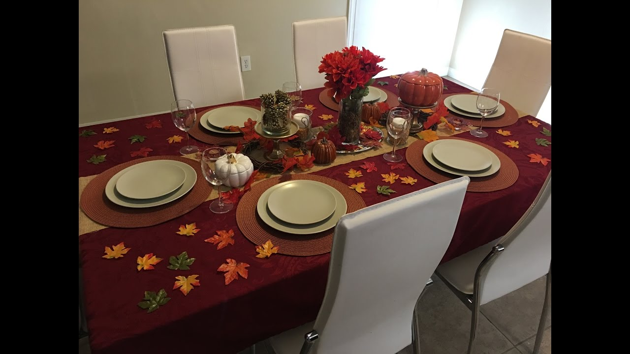 Thanksgiving tablescape dollar tree and target