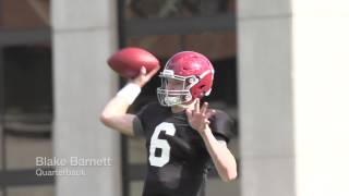 Take a look at Jacob Coker and Blake Barnett throw in slow motion