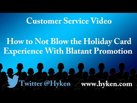 Don't Blow the Holiday Experience by Being TOO Promotional