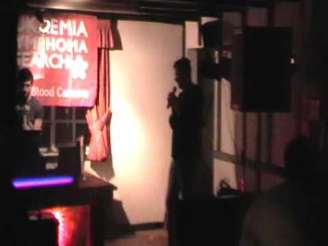 Matt Buckley singing for The Big Copper Count-Up