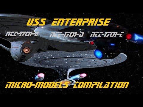 Construction en LEGO: Star Trek Micro-models Compilation [USS Enterprise NCC-1701-C-D-E]