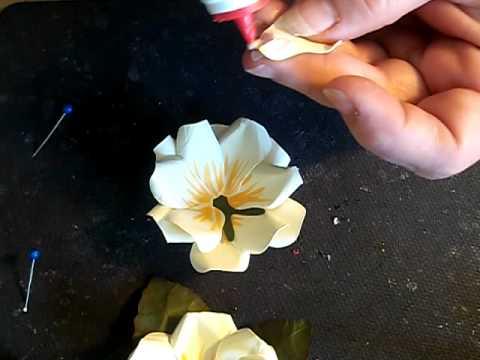 Magnolia Flower Making Tutorial - YouTube