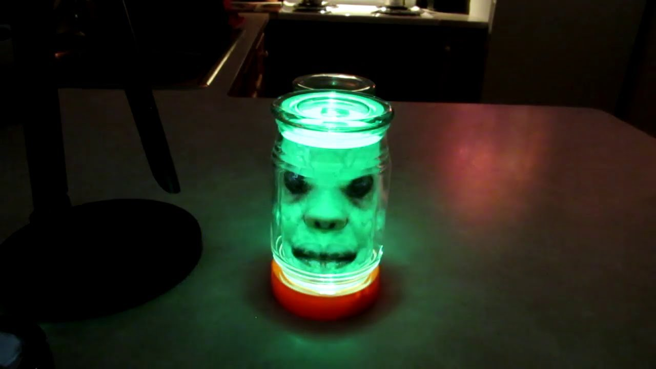 DIY Scary face in a jar, Halloween decoration(DIY FROM FALL OF 2019)