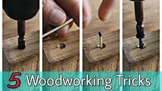 5 Woodworking Tricks / Tips..
