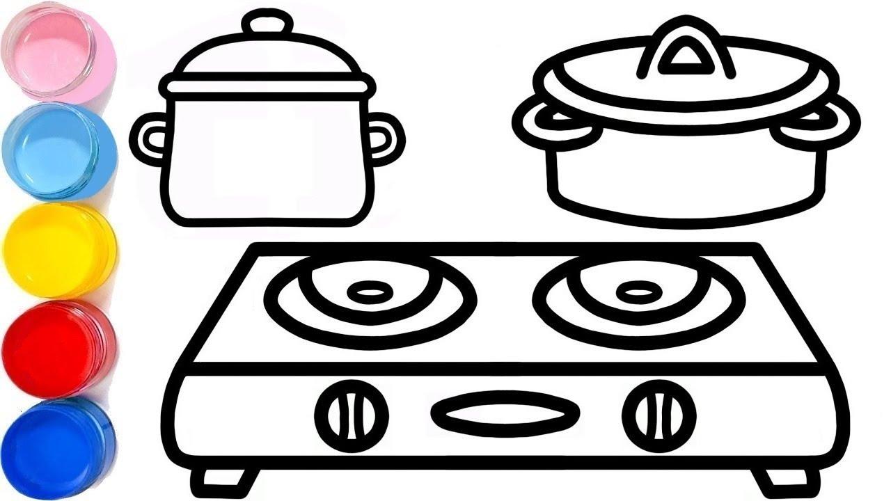 Macam Macam Peralatan Dapur Mewarnai Dan Menggambar Untuk Anak Youtube