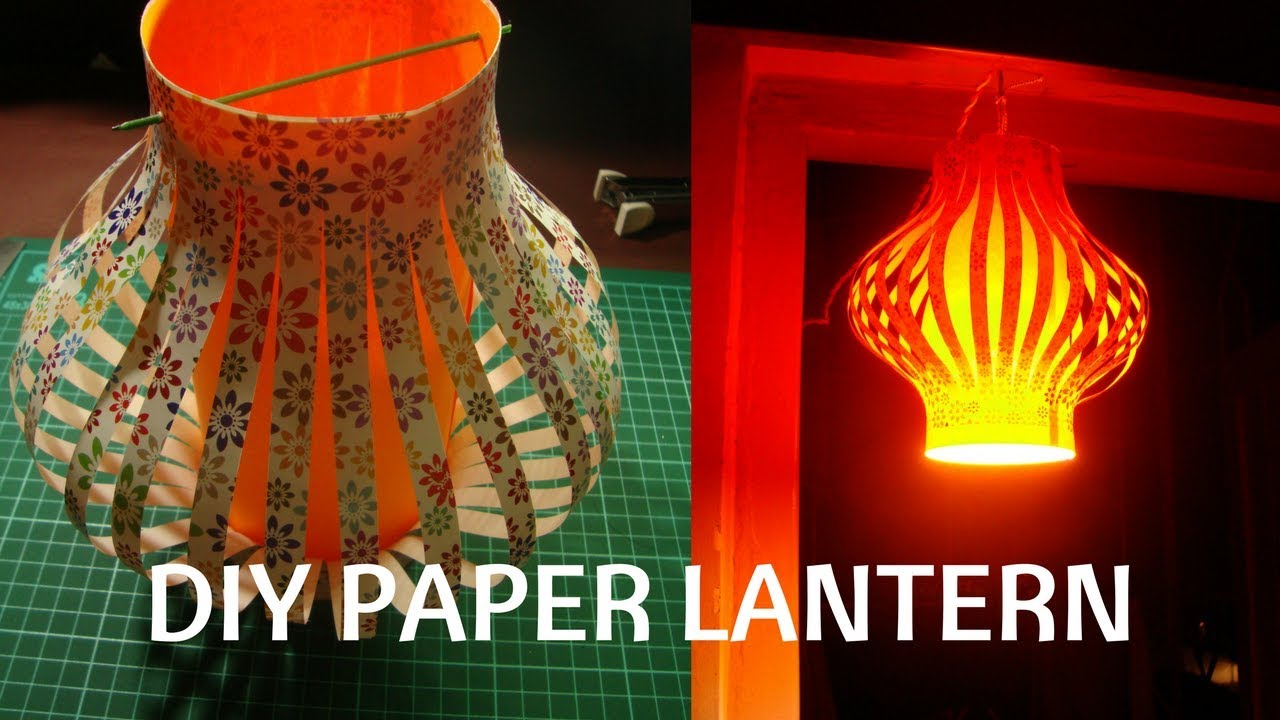 How to make a Chinese Paper lanterns. craft with paper. - YouTube for Make Chinese Paper Lantern  28cpg