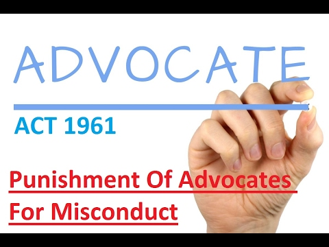 ADVOCATES ACT 1961 Section 35 In Hindi | Punishment Of Advocates For Misconduct
