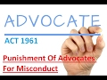 ADVOCATES ACT 1961 Section 35 In Hindi   Punishment Of Advocates For Misconduct