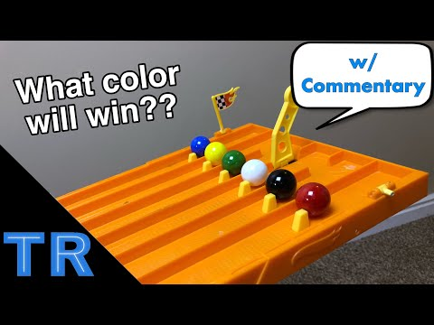 Marble Elimination Race on Hot Wheels 6 Lane Track | Toy Racing