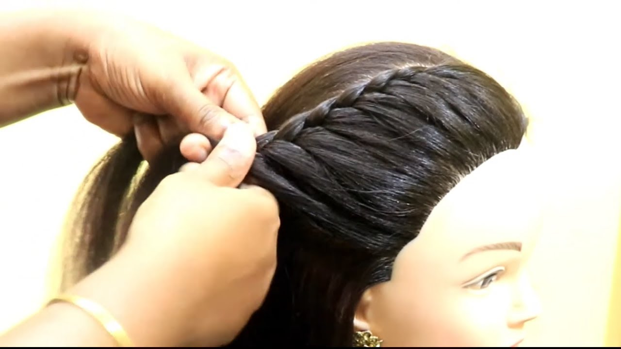 Beautiful Front Buff Hairstyle For Beginner Quick Hairstyle For College Girls Kgs Hairstyles Youtube