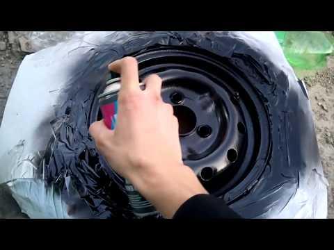 Как покрасить диски баллончиком | Покраска дисков баллончиком