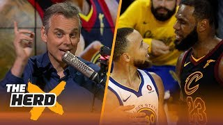 Colin Cowherd on the rift between Steph Curry and LeBron, King James' GM1 tantrum | NBA | THE HERD