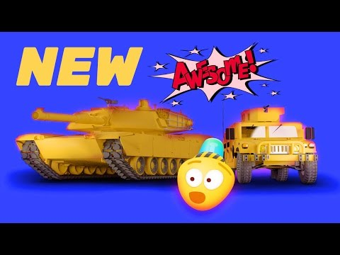 Military Cartoon, Tank & Helicopter   3D Army Cars For Kids   Construction Game  