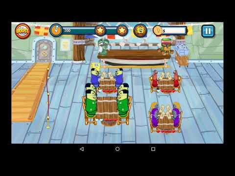 SpongeBob SquarePants Diner Dash Deluxe Gameplay (World 1)