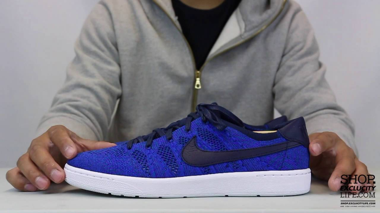 59b722856c462c Nike Tennis Classic Flyknit - Cobalt Blue - Unboxing Video at Exclucity -  YouTube